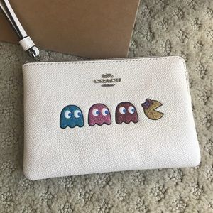 Coach Bags - COACH PAC MAN Limited Addition Leather Wristlet
